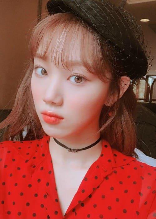 Lee Sung-kyung in an Instagram selfie as seen in January 2018