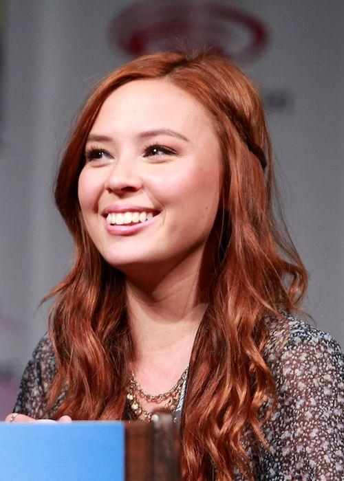 Malese Jow speaking at the 2014 WonderCon
