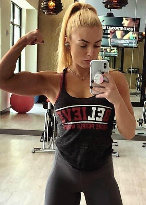 Mandy Rose in a selfie in January 2018