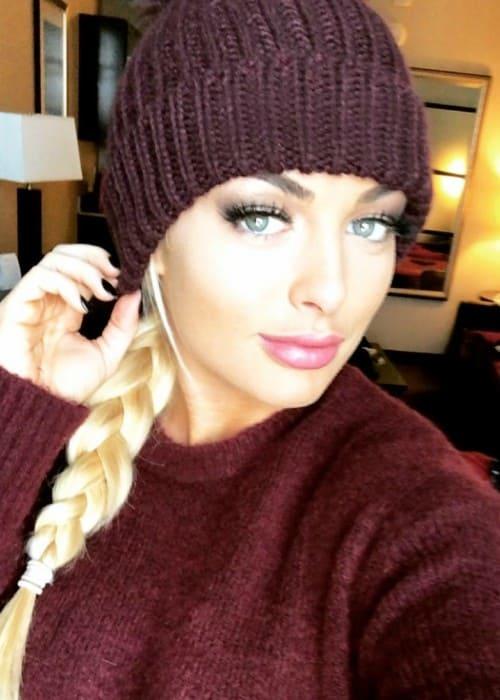 Mandy Rose in an Instagram selfie as seen in February 2018