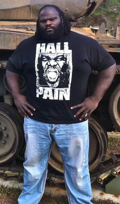 Mark Henry at the North Carolina National Guard's Fayetteville armory in 2011