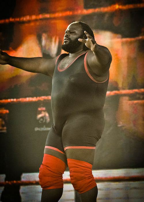 Mark Henry during WWE's Tribute to the Troops event in 2010
