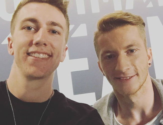 Miniminter (Left) and Marco Reus in a selfie in August 2016