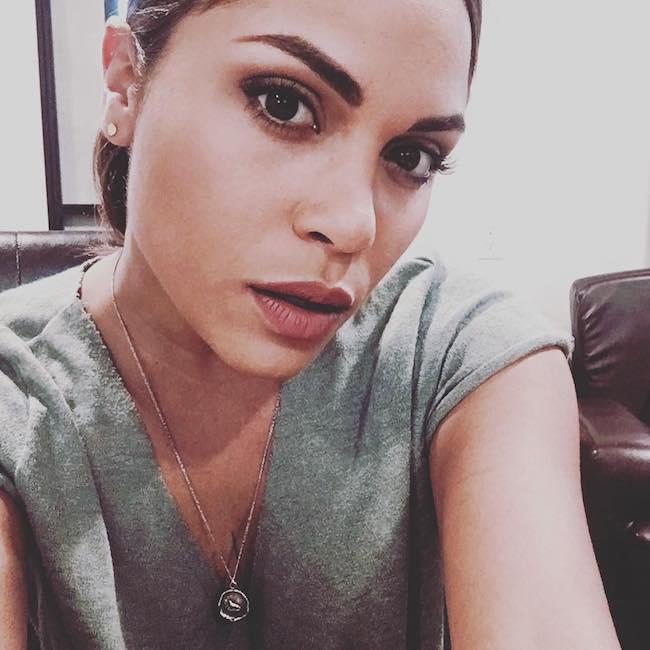 Monica Raymund looking beautiful in a Twitter selfie