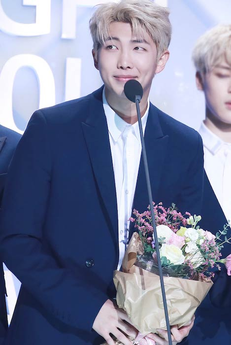 Rap Monster during 2017 Seoul Music Awards