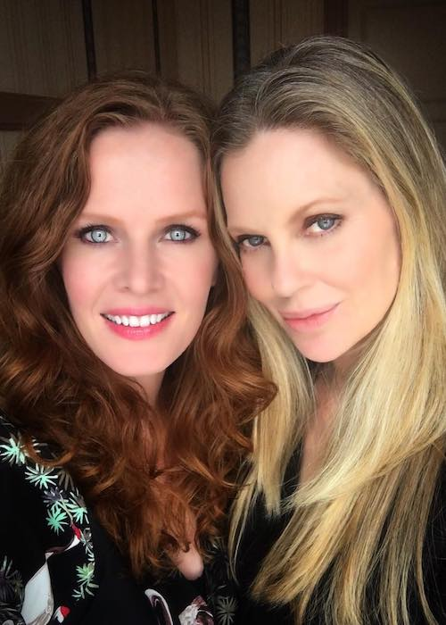 Rebecca Mader and Kristin Bauer in June 2017