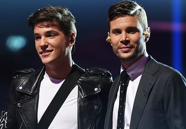 Robin Bengtsson (Right) and Anton Hagman as seen in February 2017