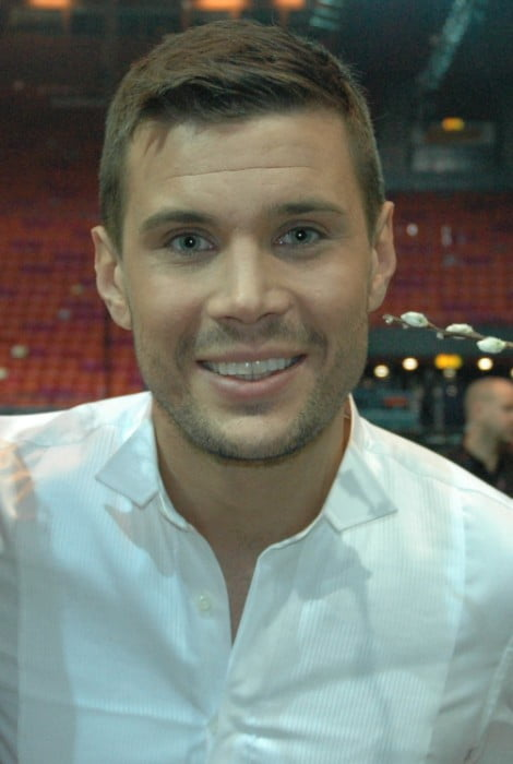 Robin Bengtsson after the first semi-final of Melodifestivalen in February 2016