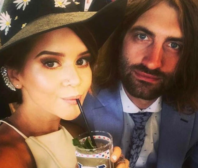 Ryan Hurd and Maren Morris in a selfie in May 2017