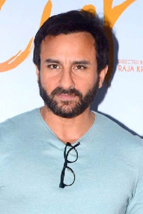 Saif Ali Khan during an event for his 2017 film Chef