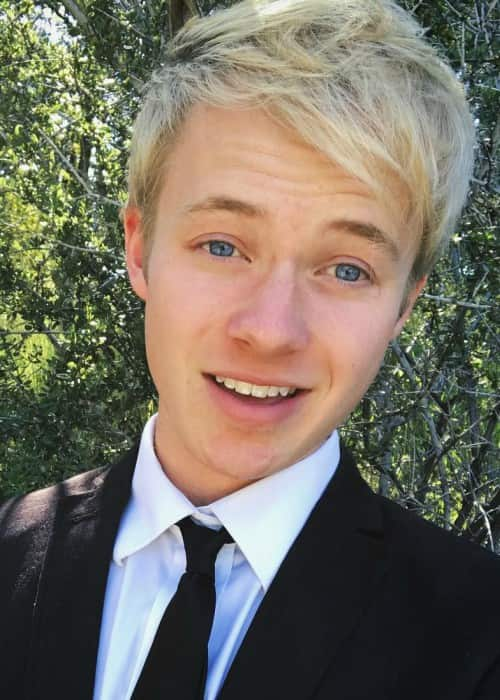 Sam Golbach in an Instagram selfie as seen in June 2017