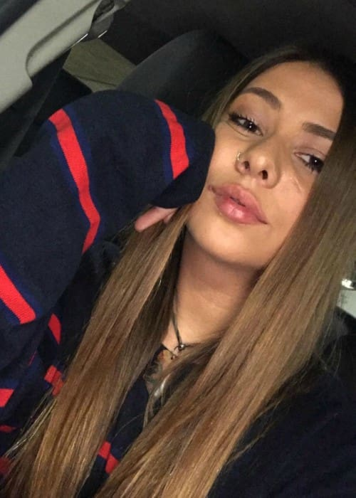 Sarah Baska in a selfie as seen in January 2018