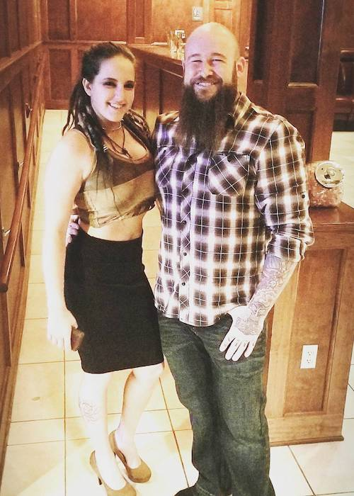 Sarah Logan and Raymond Rowe during a date night in 2018
