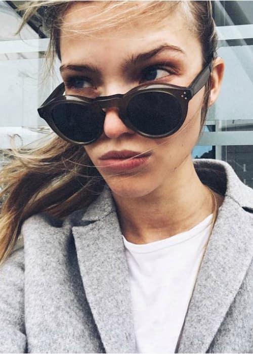 Sasha Luss in an Instagram selfie as seen in January 2017