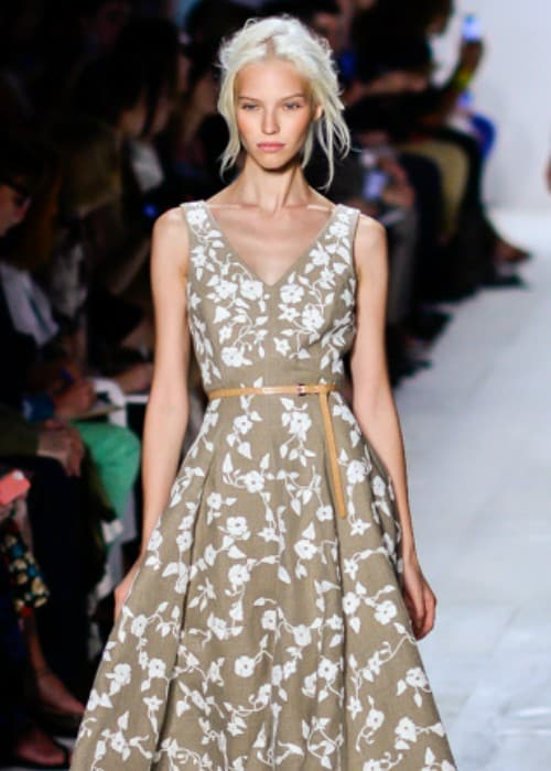 Sasha Luss walking the runway at the Michael Kors Spring Summer 2014 show