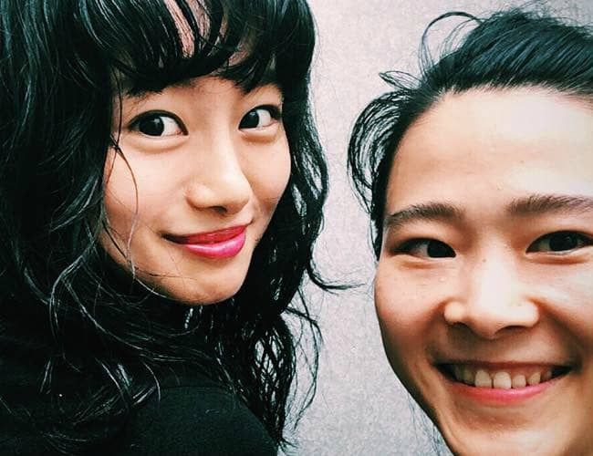 Shioli Kutsuna (Left) and Kae Kosugi in a selfie in August 2016