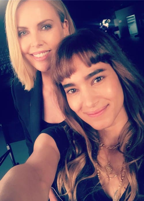 Sofia Boutella (Right) and Charlize Theron as seen in May 2017