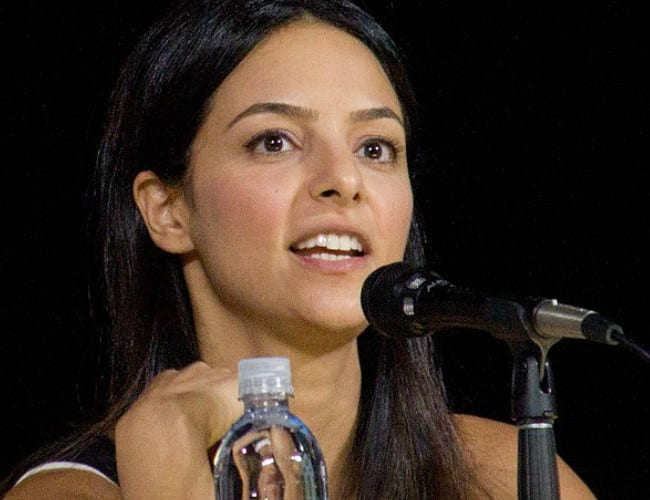Tala Ashe at San Diego Comic-Con in July 2017