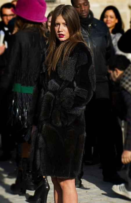 Adèle Exarchopoulos at the Paris Fashion Week in March 2014