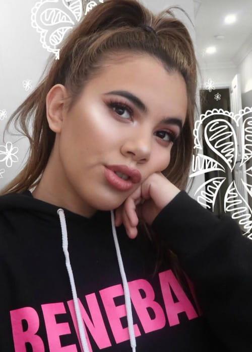 Adelaine Morin in an Instagram selfie as seen in February 2018
