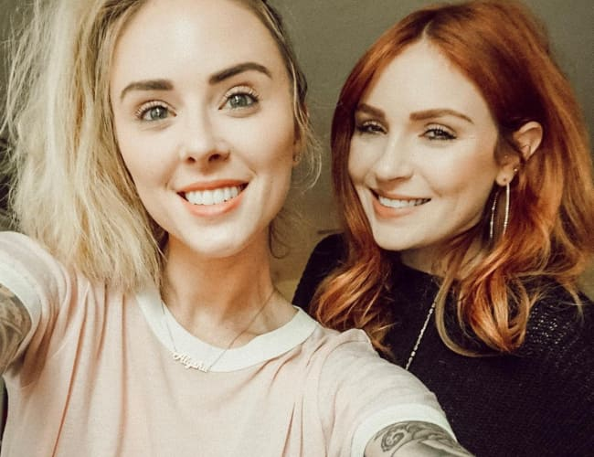 Alysha Nett (Left) and Danielle Victoria as seen in May 2018
