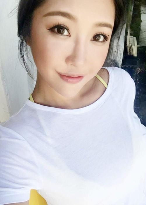 Anita Chui in a selfie in April 2018