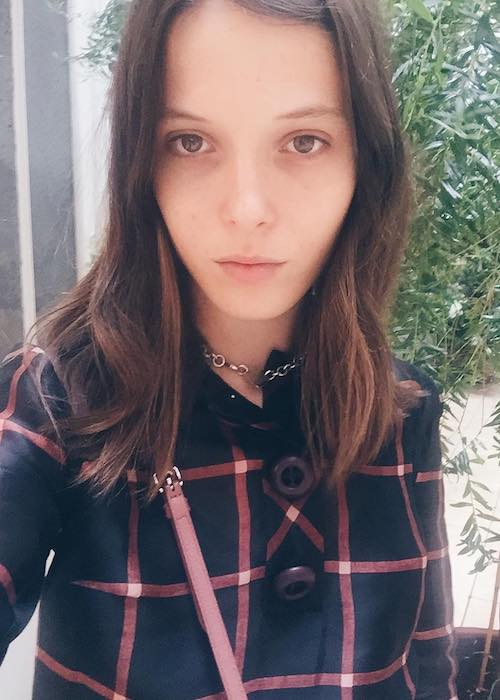 Anna K in an Instagram selfie in July 2017