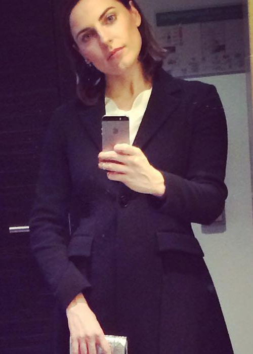 Antje Traue in an Instagram selfie as seen in April 2016