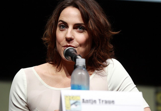 Antje Traue speaking at the 2013 San Diego Comic Con International