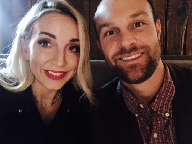 Ashley Monroe and John Danks in a selfie in October 2016
