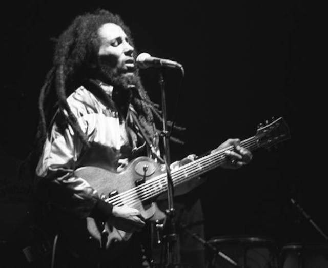 Bob Marley performing live in concert in Zurich, Switzerland in May 1980