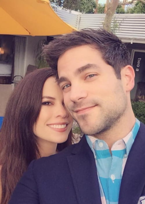 Brant Daugherty and Kimberly Hidalgo as seen in March 2018