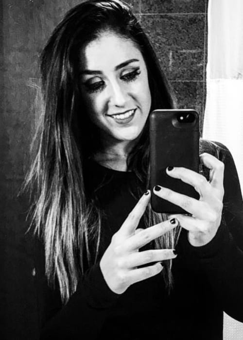 Britt Baker in a selfie in December 2017
