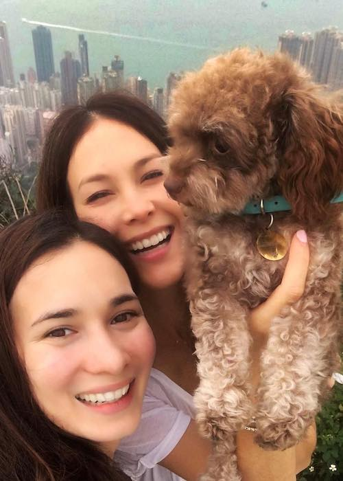 Celina Jade (bottom) with actress Paula Taylor in a November 2017 selfie