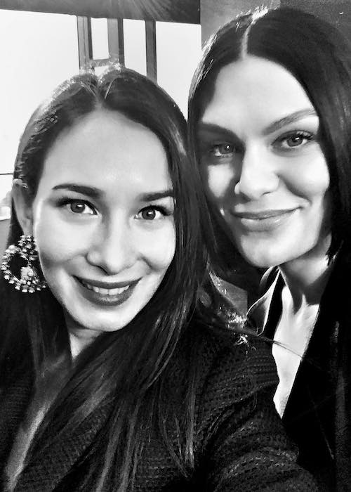 Celina Jade with Jessie J as seen in November 2017