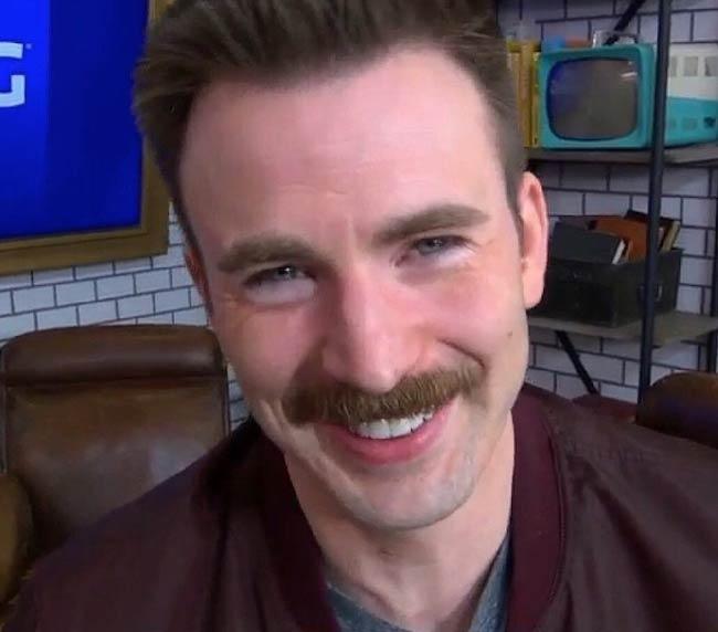 Chris Evans on the set of Good Morning America