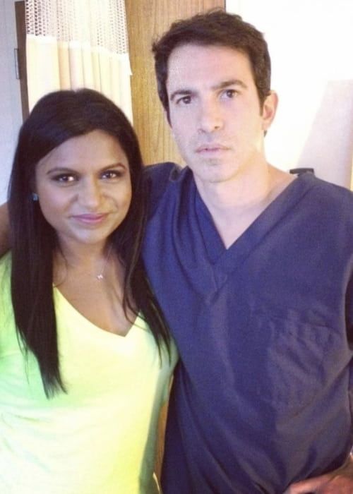 Chris Messina and Mindy Kaling in an Instagram post in November 2017
