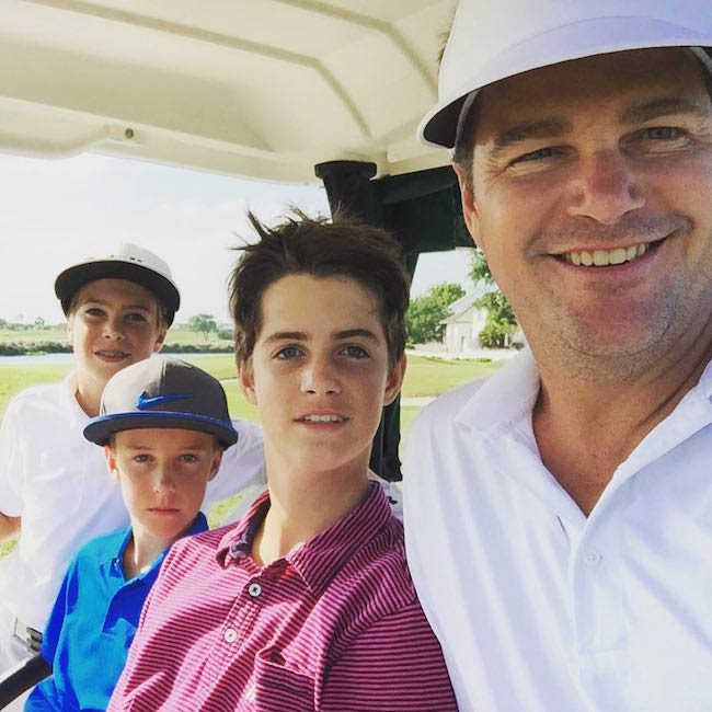 Chris O'Donnell with his children in April 2016