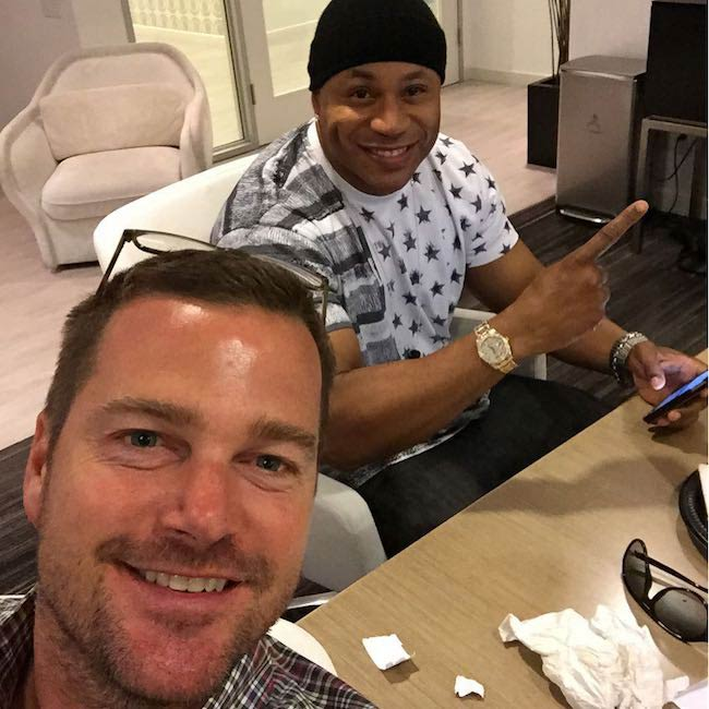 Chris O'Donnell with rapper LL Cool J in September 2015