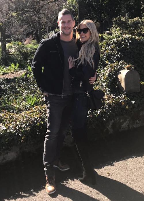 Christina El Moussa and Ant Anstead during a weekend getaway in January 2018