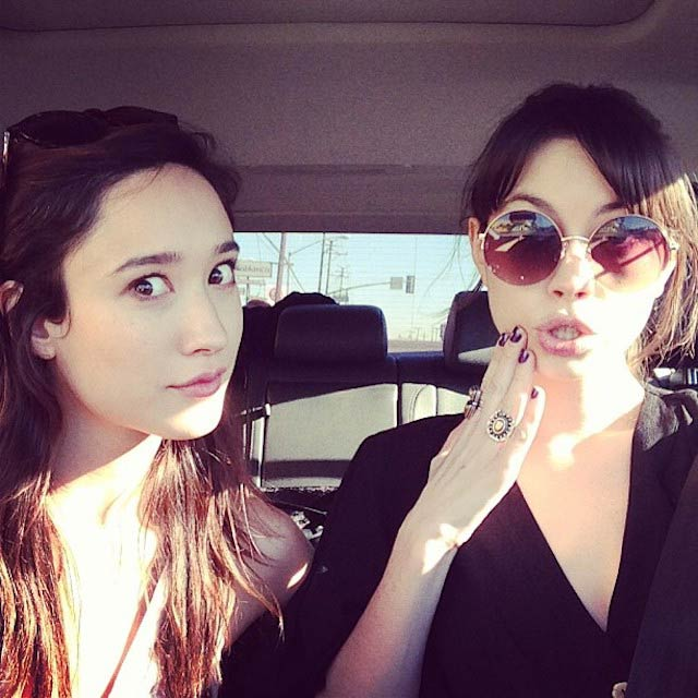 Christina Masterson with her friend Jen Agogo in January 2013