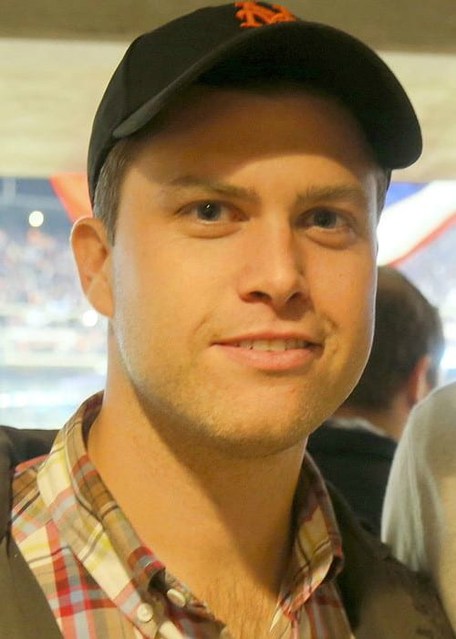 Colin Jost at Citi Field in New York in October 2015