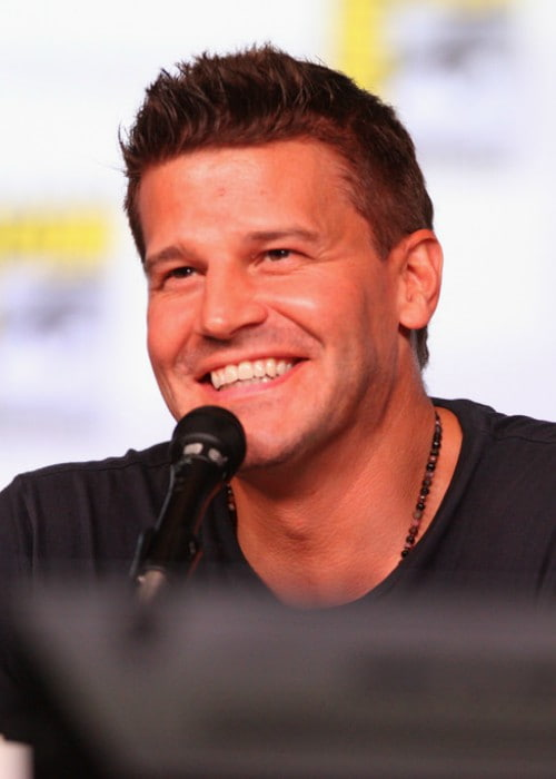 David Boreanaz speaking at the 2012 San Diego Comic-Con in July 2012
