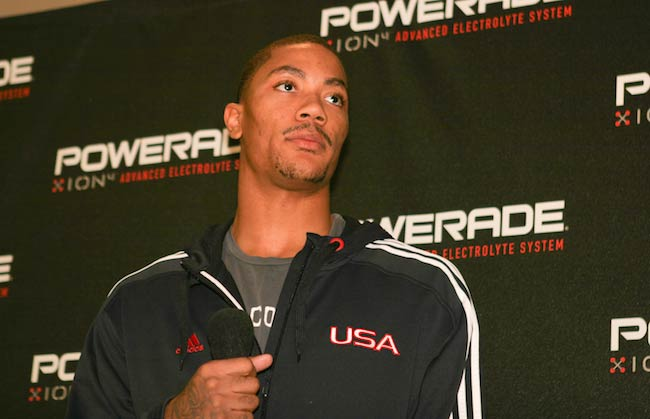 Derrick Rose at a promotion Meet n Greet event in 2010