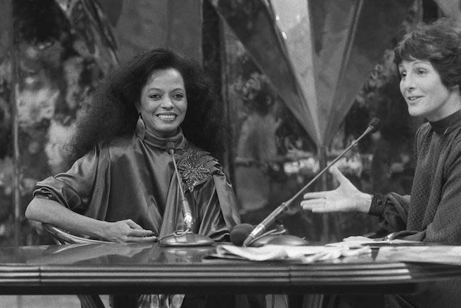 Diana Ross in the program 'Mies' in 1981