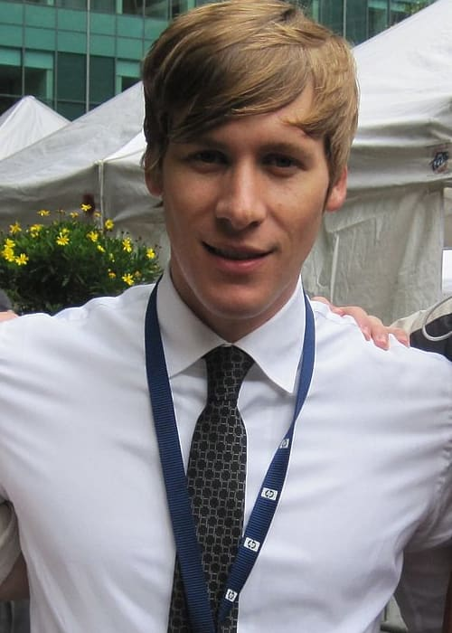 Dustin Lance Black at a rally in Bryant Park in June 2009