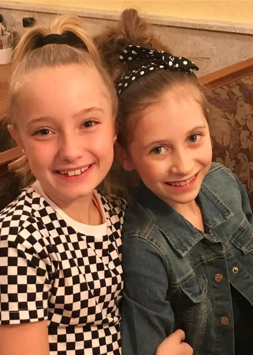 Elliana Walmsley (Right) and Alexus Oladi as seen in April 2018