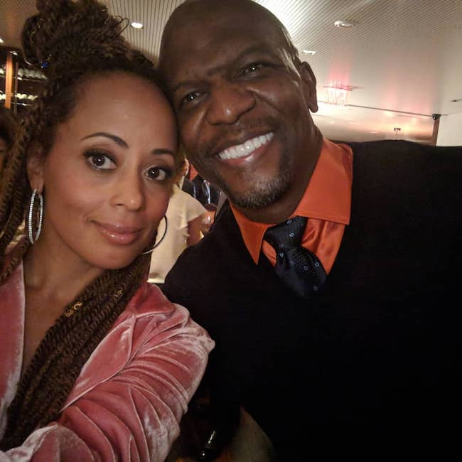 Essence Atkins and Terry Crews in May 2018