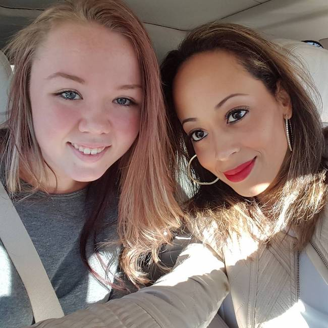 Essence Atkins congratulating her niece Alyssa on clearing Driver's Test in February 2016