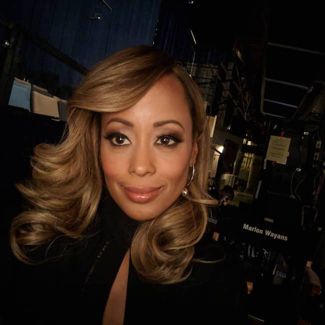 Essence Atkins giving Farrah Fawcett vibes in March 2018